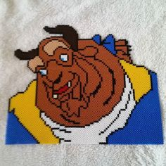 Beast - Beauty and the Beast  hama perler beads by nicolebe85 - Pattern: https://www.pinterest.com/pin/374291419001084709/