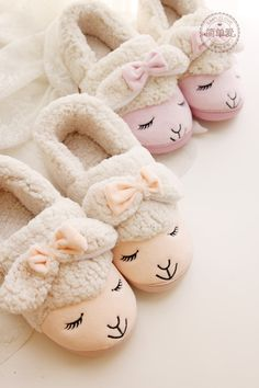 Sweet Slippers Warm and Cozy Pyjamas, Vintage Pink, Cute Slippers, Bunny Slippers, Little Bo Peep, Just Girly Things, Pajama Party, Getting Cozy, Sock Shoes