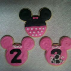 Rayleigh's Minnie Mouse birthday cookies