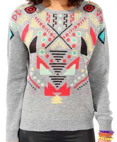 Intarsia Geo Sweater | FOREVER21 - 2021840997