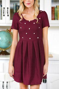 Grandly Garnet Party Dress