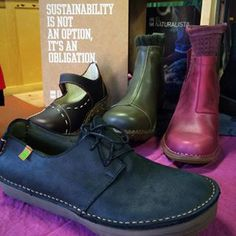 """""""Sustainability is not an option, it's an obligation."""" El Naturalista hand makes the most gorgeous, sustainably made leather shoes and boots we have ever seen.  Plus they have donated 500 PAIRS OF SHOES FOR THE ORPHANAGE OF DAMABIAH IN HAITI!⠀ ⠀ #grandrapids #easthillsgr #localfirstgr #shopgrandrapids #shopsmall⠀ #sustainable #sustainableapparel #handmadewithlove #handcrafted#slowfashion #ethicallymade #outfitpost#styleinspriation #styleblogger #futurefashion #styleblog…"""