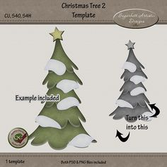 Christmas Tree 2 Template