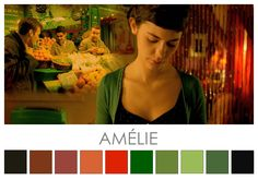 Colour in film - Amelie Jean-Pierre Jeunet's film is built around muted… Movie Color Palette, Red Colour Palette, Colour Schemes, Stuart Little, Blade Runner, Color In Film, Movies In Color, Cinema Colours, Color Script