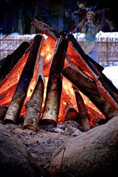 Новогодний костер в Беловежской пуще...