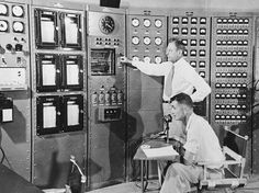 Researchers work on a nuclear testing project at Los Alamos in 1974.