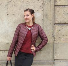 f9e1ae925dca Fashion blogger Valériane Hardy from www.leblogdevaloumodeuze.com matches  her wine-coloured Ultra