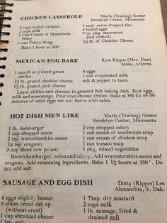 Old recipes dinners casseroles yummy casseroles awesome casseroles pierogi recipe casseroles delicious casseroles saurkraut recipes; Retro Recipes, Old Recipes, Vintage Recipes, Cookbook Recipes, Meat Recipes, Cooking Recipes, Hamburger Recipes, Chicken Recipes, Casserole Recipes