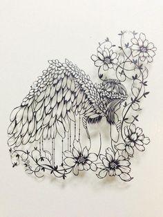 Awakening (Japanese Papercutting) by bone-cut