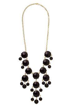 Black Gem Statement Necklace $18