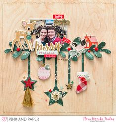 Festive layout with Crate Paper Falala
