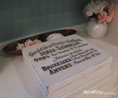 Cigar Box - painted with Annie Sloan Chalk Paint Waterslide decal for the graphic #chalkpaint #shabby