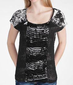 Daytrip Abstract Print Top