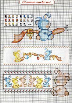 bambini coniglietti ciuccio biberob1 - magiedifilo.it punto croce uncinetto schemi gratis hobby creativi