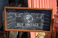 save the world - BUY VINTAGE {chippy, rusty, worn, faded, patina, antique, old, retro, old school, goodness} = LOVE