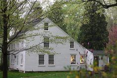 Enos Kellogg Homestead... 1784 New England Salt box in Norwalk, Connecticut.