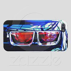 Black Camaro ZL1 Tail lights close up on an Apple iPhone 5 hard shell case.....100% money back guarantee....available nowhere else.