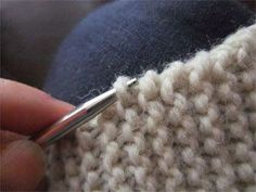 "The Diff between ""pick up"" and ""pick up and knit"" AND which stich to pickup on a garter stitch edging"