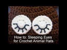 Amigurumi Eyes Pattern : How to make crochet sleeping eyes for animal hats free pattern