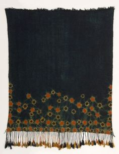Africa | Mendil, Tamendilt. Woman's Shawl. Berber People. Matmata Mountains, Tunisia | First half 20th Century | Wool, natural dyes, multicolor resist dye technique