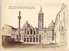 OLD ALBUMEN PRINT PHOTOGRAPH ROME ROMA SANTA MARIA D POPOLO 1870s 18X26CM PHR 47