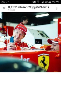 The best team in the world :* Come on Boys! You have to win a lot of races and you can it! I hope that we will see a lot of kind and wonderful moments! Thanks Ferrari Thanks Seb Thanks Kimi ❤