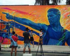 """Conquista"" / ""Conquest"" Artist: @thiagovaldi  Rio de Janeiro Brasil #streetart #mural #graffiti #urbanart #sprayart #graffitiart #spraypaint #spraycanart #publicart #wallart #wallporn #urbanwalls #instagraff #instagraffiti #arteurbano #talents #streetartist  #streetarteverywhere #graffitiporn #graffitiwall #graffporn #graffitiigers #streetartriodejaneiro #streetartbrazil #riodejaneiro #brasil #brazil by gabita_uy"