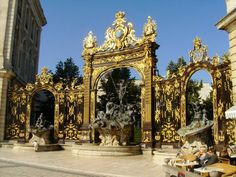 Golden18th Century Gates of the Place Stanslas in Nancy France