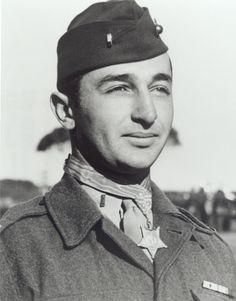 US Marine Lt Mitchell Paige, recipient of the Congressional Medal of Honor. Lt Mitchell won the medal for his breaking a Japanese regimental assault on Guadalcanal singlrhandedly. He survived WW2 and fought in Korea as well. He died at age 85 in 2003.