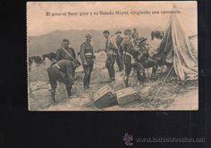 Postales: TARJETA POSTAL. EL GENERAL BERENGUER Y SU ESTADO MAYOR, DIRIGIENDO OPERACION. PROTECTORADO ESPAÑOL. - Foto 1 - 47588168