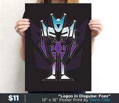 """Logos In Disguise: Foes"" by Derin Ciler is available now. Get yours: http://www.teefury.com/logos-in-disguise-foes-1/?utm_source=pinterest&utm_medium=referral&utm_content=logosindisguisefoes1&utm_campaign=galleryinfocus"