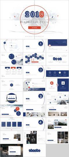 27+ Minimalist style report PowerPoint template on Behance
