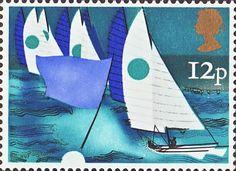 Sailing 12p Stamp (1975) Multihulls