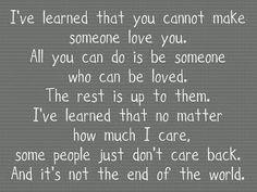 i`ve learned....