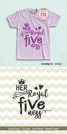 Her royal fiveness fun girls 5th birthday by LoveRiaCharlotte