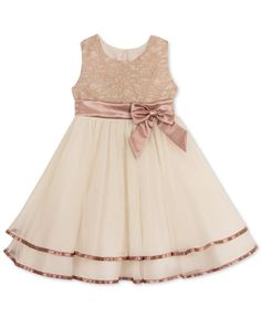 Rare Editions Lace-Bodice Fit & Flare Party Dress, Toddler & Little Girls (2T-6X) - Dresses - Kids & Baby - Macy's #Easter #Gifts #Dress #Coupons