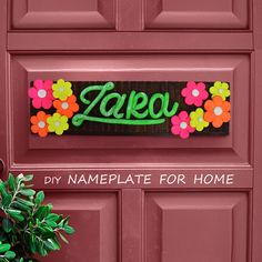 Brighten Your Home With This Cute Handmade Nameplate That Has Been Created Using Fevicryl Shilpkar And