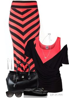 A fashion look from July 2013 featuring shirt top, neon top and chevron maxi skirt. Browse and shop related looks. Cute Fashion, Girl Fashion, Fashion Outfits, Womens Fashion, Fashion Ideas, Fashion Styles, Fashion Inspiration, Date Night Outfit Summer, Summer Outfits