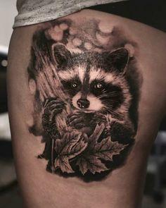 Amputee tattoos 437975132503610837 - Angelique Grimm raccoon tattoo Source by myrtillelemonni Weird Tattoos, Body Art Tattoos, Tattoos For Guys, Sleeve Tattoos, Cool Tattoos, Tattoo Ink, Tatoos, Bunny Tattoos, Animal Tattoos