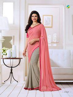 Pink Exclusive Designer Fancy Saree