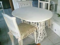 kleiner Küchen Tisch Esstisch Schreibtisch Beistelltisch weiß Landhaus Shabby | eBay