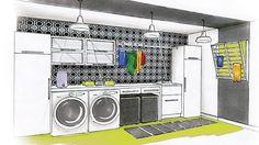 Transformation d'une buanderie.Transformer une salle de lavage n'est jamais une mince affaire. La rénovation de cette pièce implique souvent le concours d'un plombier et d'un l'électricien, surtout quand les installations sont désuètes. Mais quel plaisir de travailler dans un espace aménagé intelligemment!