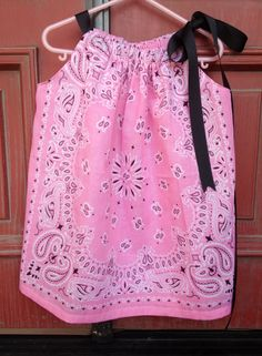 Lil Cowgirl Pink bandana dress by EverythingElizabeth on Etsy, $16.00
