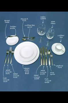Table Place Settings for Every Occasion | Dinner table, Table ...