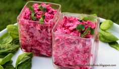Sałatka z buraków - Wegetariańska kuchnia Catering, Vegetarian Recipes, Raspberry, Food And Drink, Vegan, Vegetables, Fruit, Drinks, Cooking