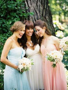 Easter is all about pastel tones, keep your bridesmaids in your colour scheme with these stunning pastel strapless dresses.