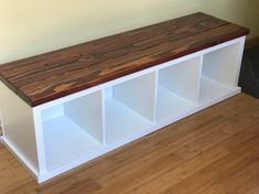 Storage Bench Seating, Bench With Shoe Storage, Diy Bench, Diy House Projects, Diy Wood Projects, Bookshelf Bench, Decorating Your Home, Diy Home Decor, Wooden Shoe Racks