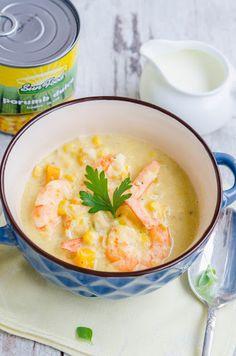 Supa de porumb cu creveti - Din secretele bucătăriei chinezești