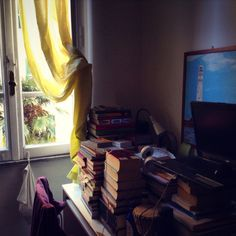 Bro's bedroom and books