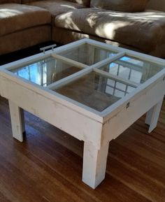 #Reclaimed Old Window and Pallet Coffee #Table   Pallet Furniture DIY